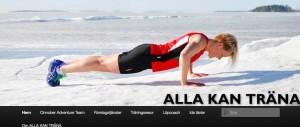 Alla kan träna om kvinnor och träningsprogram