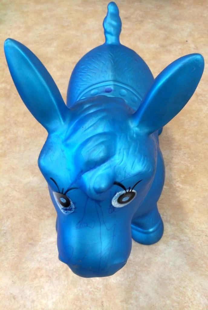 En blå