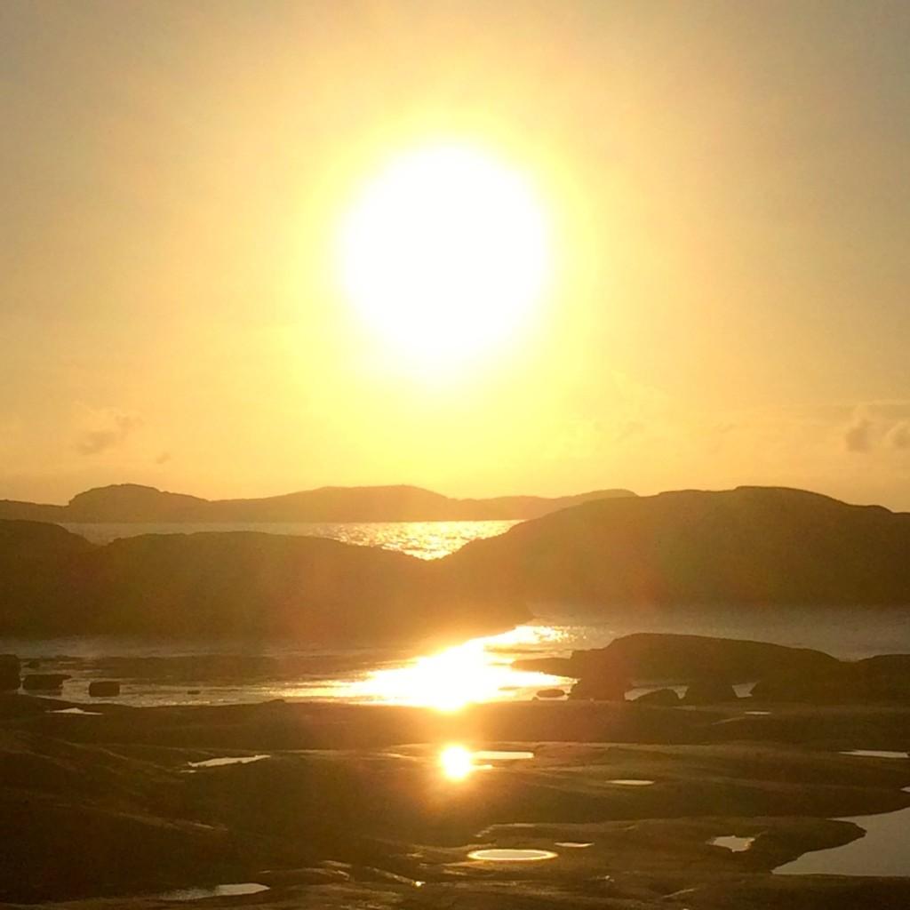 Solnedgång Tjurpannan